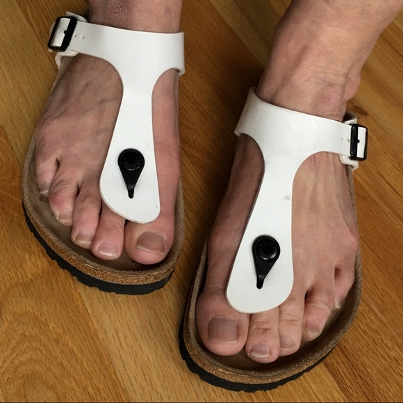 exclusive shoes cheap for discount various colors Birkenstock Shoes | Patent White Gizeh Throng Sandals | Poshmark